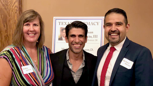 Chairman Eddie Lucio III (center) with TPA CEO Debbie Garza and Vice President Michael Muñiz.