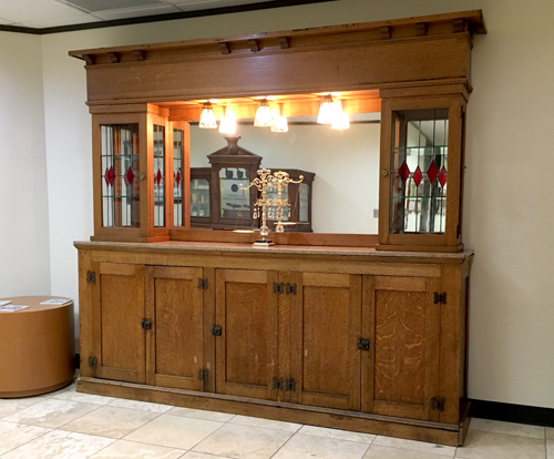 This antique soda fountain back bar is now on display in the pharmacy museum at the TPA office in Austin.