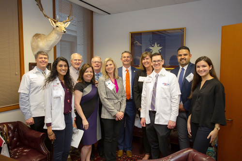 Pharmacists meet with Rep. Tom Oliverson.