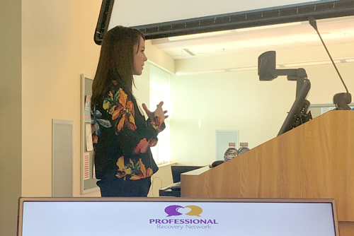 PRN speaks to UIW pharmacy students.