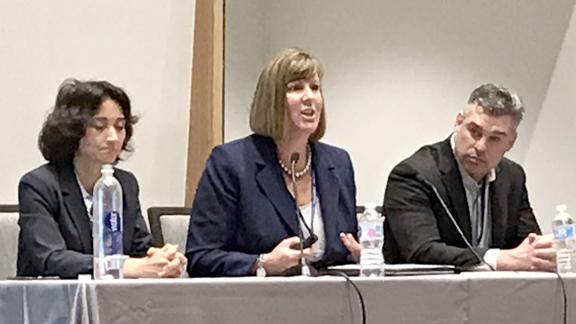 TPA CEO Debbie Garza (center) speaks on a panel regarding the Texas Approach to Value-Based Care