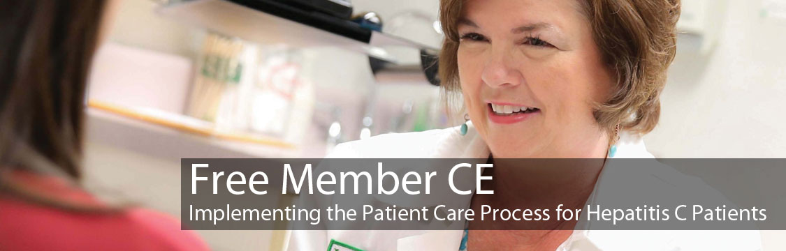 Free Member CE: Implementing the Patient Care Process for Hepatitis C Patients