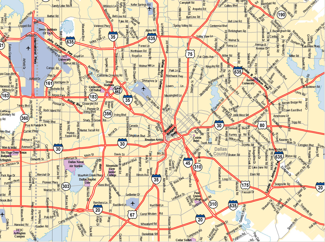 Dallas City Map Texas Psychological Association