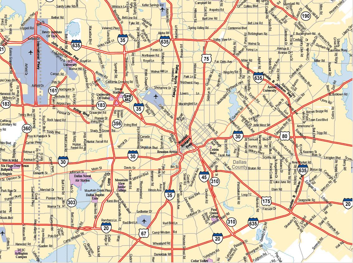 Dallas City Map Pdf | Global Map