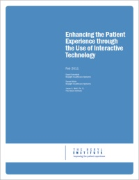 Webinar: Enhancing the Patient Experience through the Use of Interactive Technology