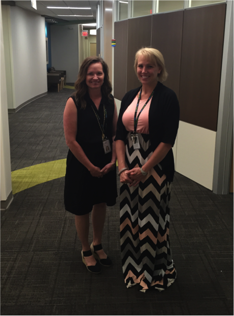 Jill Bergen, Cinical Services Supervisor and Jackie Kerfeld, Business Services Supervisor