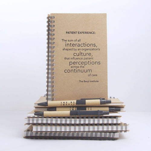 Patient Experience Definition Notebook and Pen