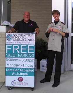 Bobby Williams, MHS Director of Operations and Carolyn Chavis, Valet Lead.
