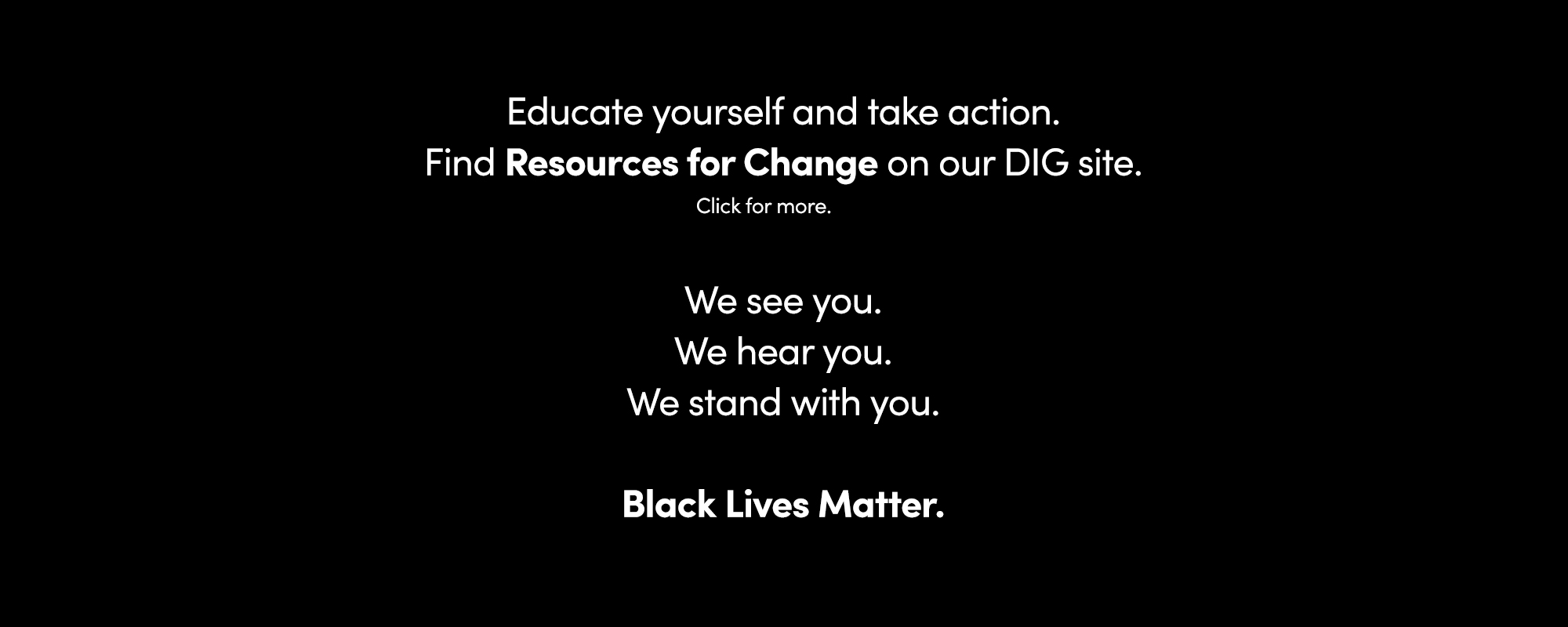 ThinkLA Black Lives Matter Statement