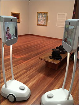 Figure 6.  Beam robots at the de Young Museum