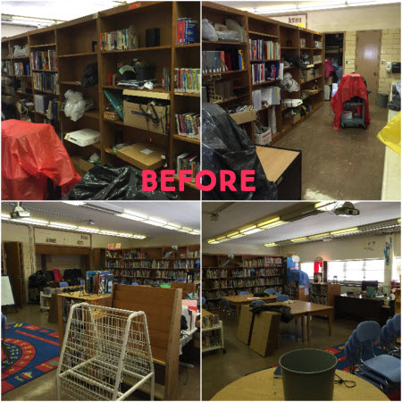 Figure 1. South Knoxville Elementary Library before remodeling