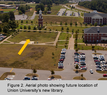 Location for Union University's new library.