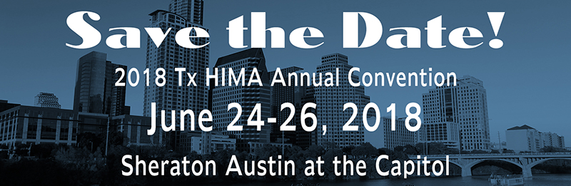 2018 TxHIMA Convention Save the Date graphic