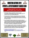 Houston Astros 2011 Sports & Entertainment Career Fair