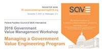 2016 Government Value Management Workshop