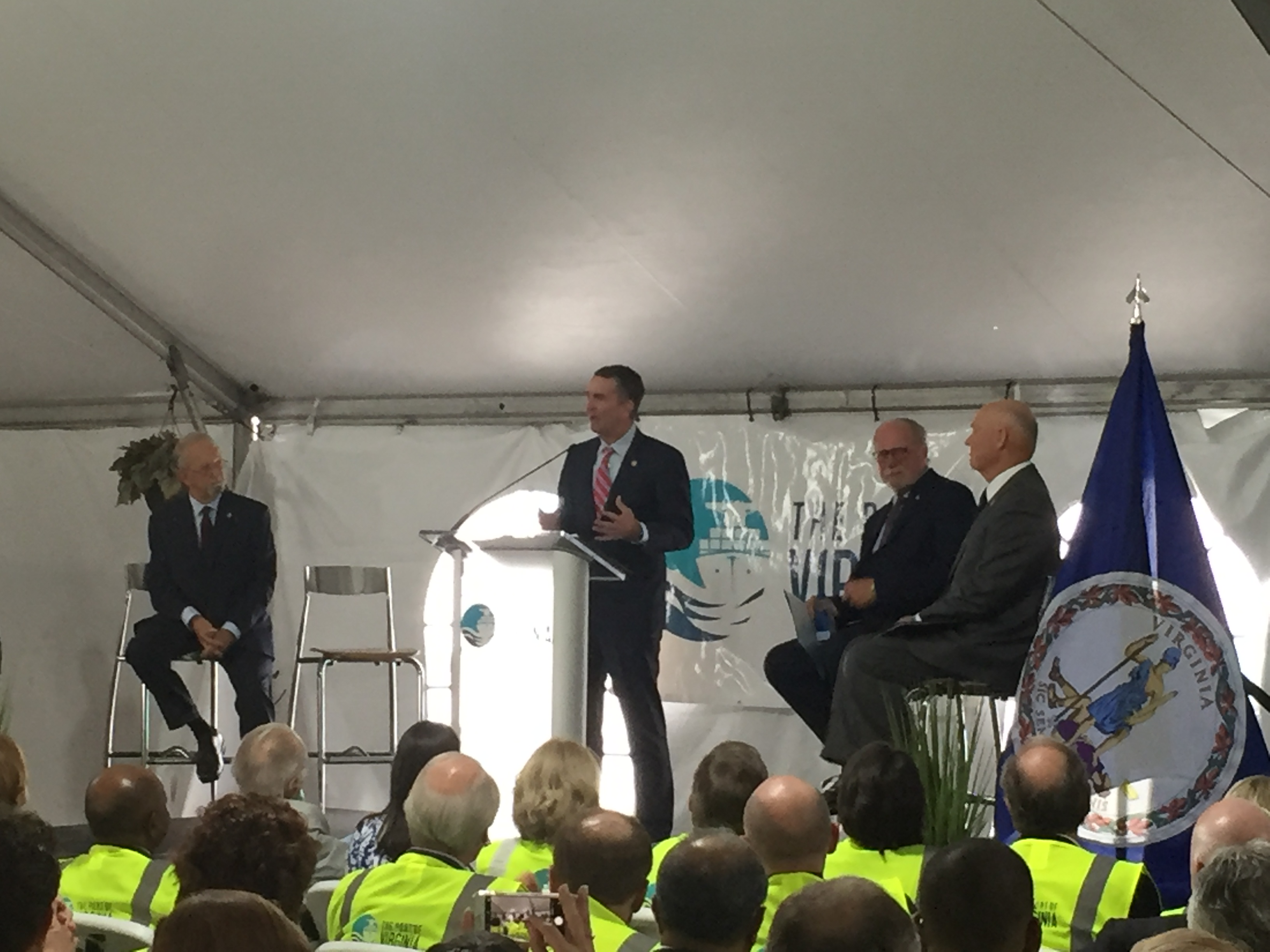 Gov Northam Speaks during the VIG Completion Celebration