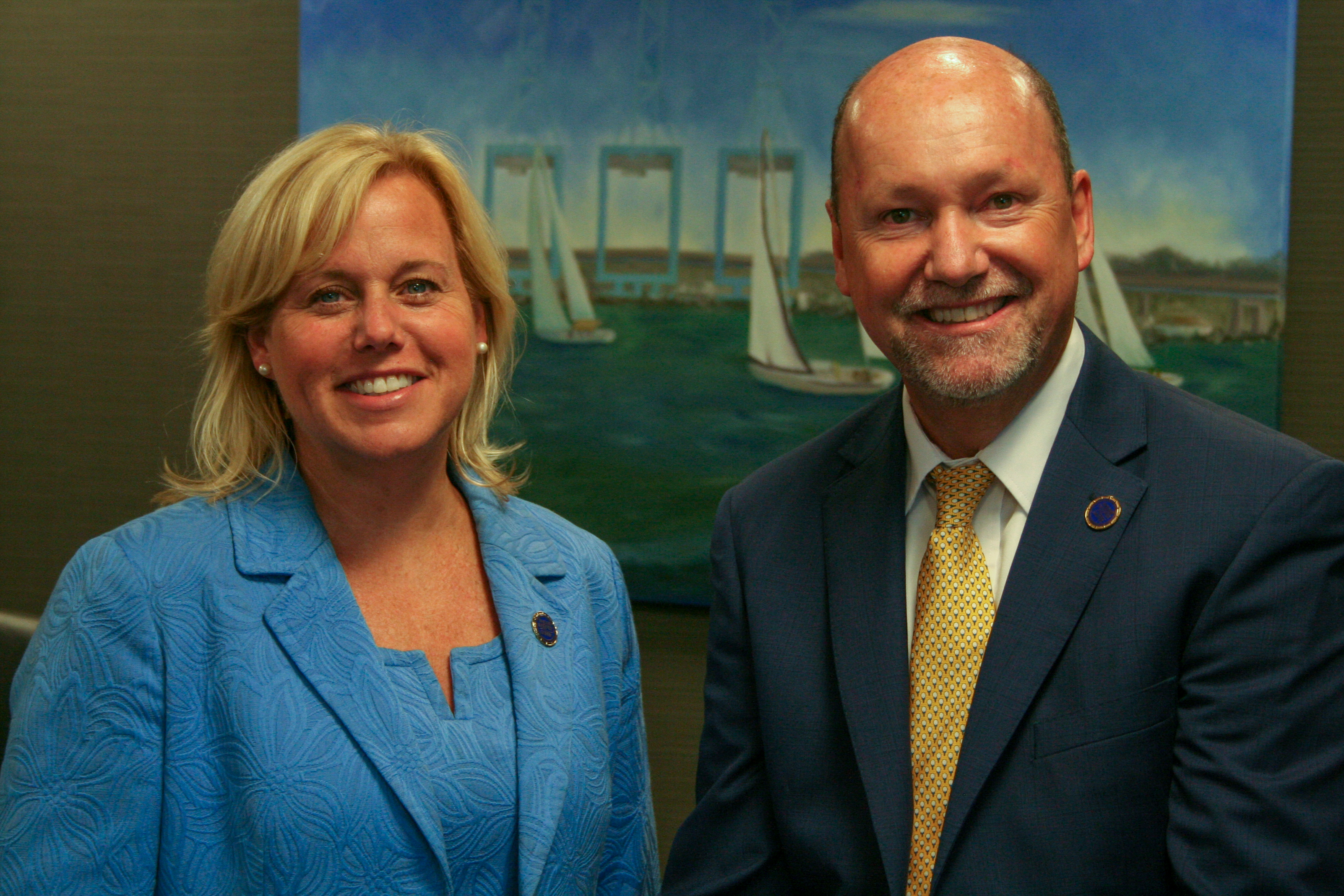Ashley McLeod and Sam Davis, promoted to Vice Presidents at the Virginia Maritime Association