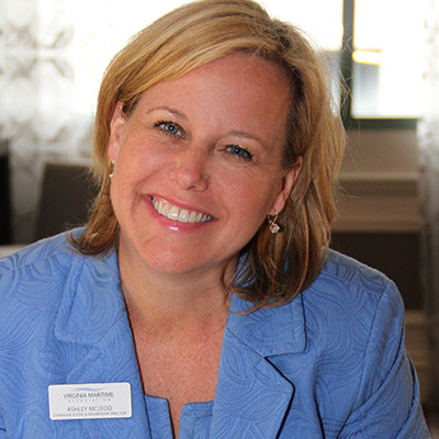 Ashley McLeod, Vice President of Communications and Membership for the Virginia MAritime Association