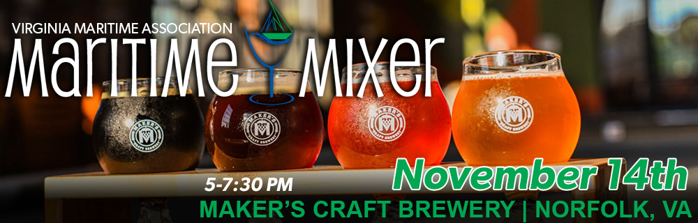 Maritime Mixer on 11/14 at Maker's Craft Brewery in Norfolk