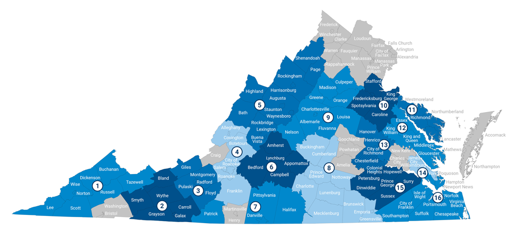 Virginia's Regional Economic Development Organizations 2018