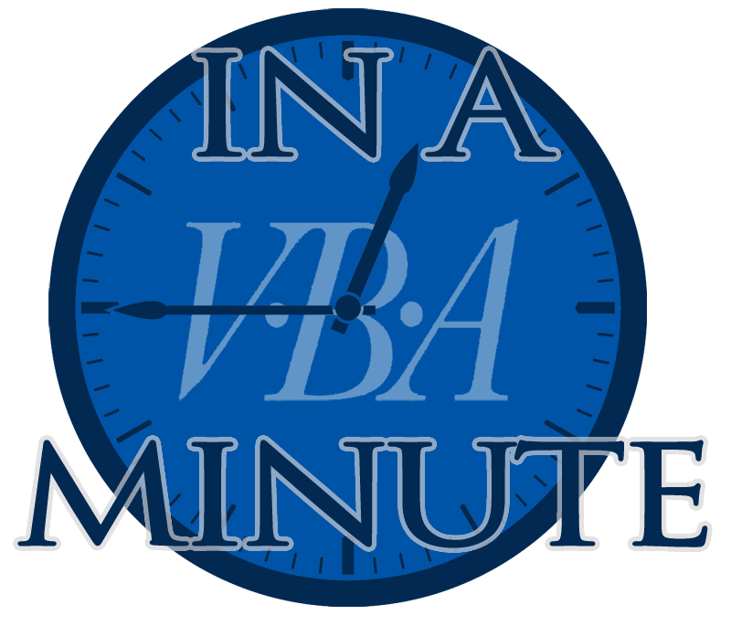 In A VBA Minute logo