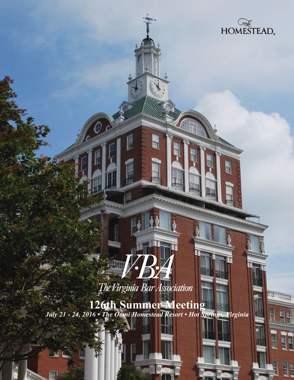 VBA Summer Meeting 2016 Preliminary Brochure cover