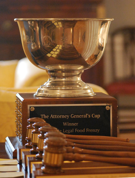 Top award in the Legal Food Frenzy, a collaboration among the VBA Young Lawyers Division, the Attorney General's office and the Federation of Virginia Food Banks