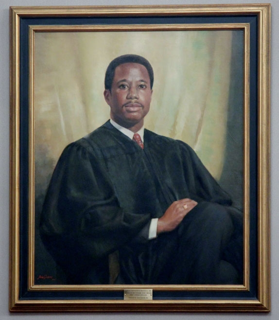 VBA-commissioned portrait of Chief Justice Leroy R. Hassell Sr.