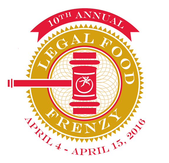 2016 Legal Food Frenzy logo 10th Annual