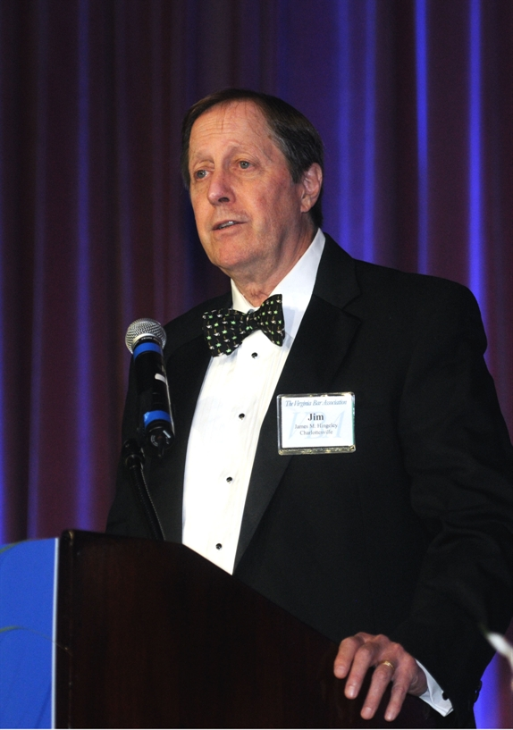 Jim Hingeley, recipient of the VBA's 2014 Groot Award