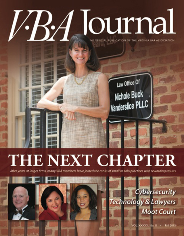 Fall 2015 VBA Journal cover