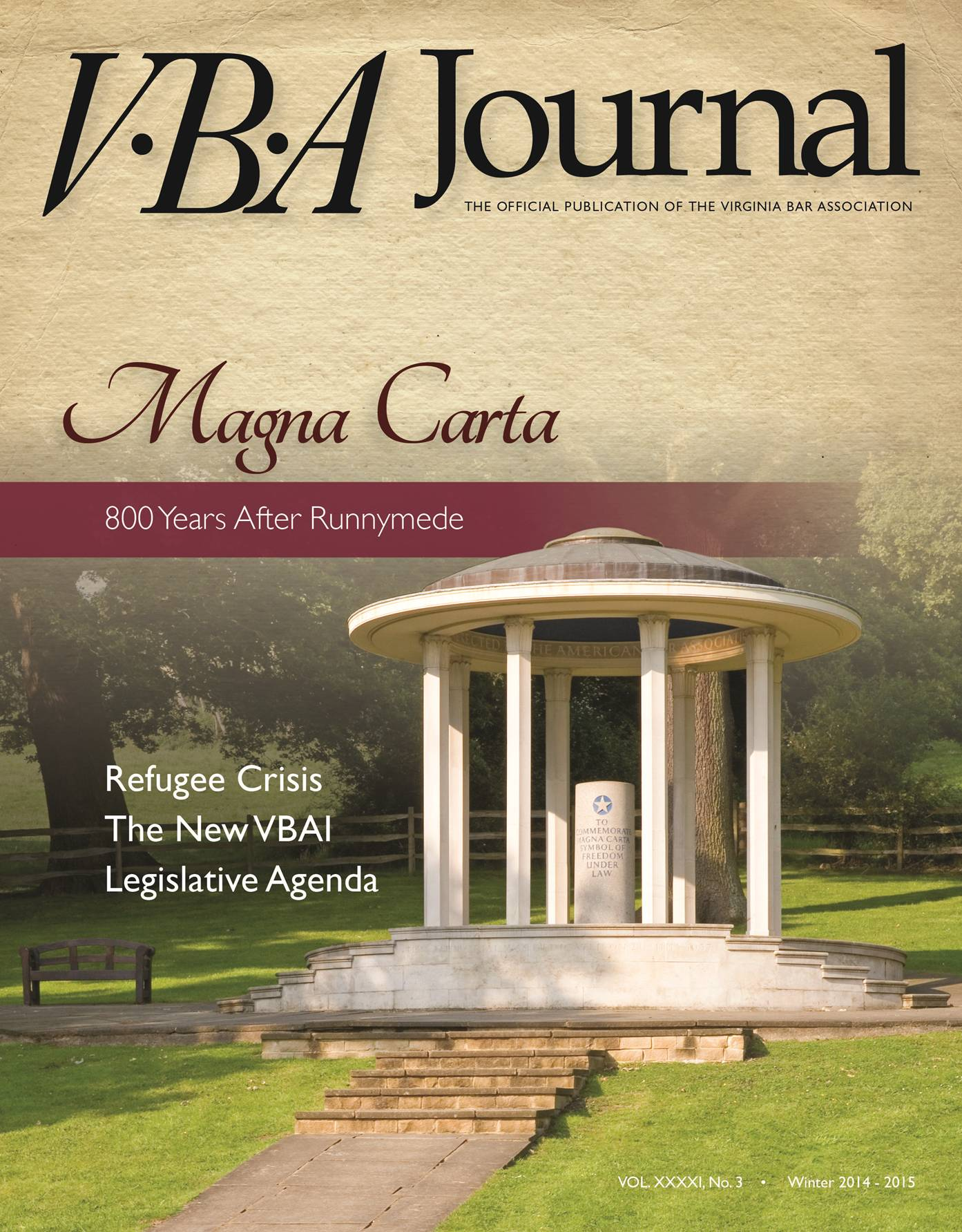 VBA Journal Winter 2014-15