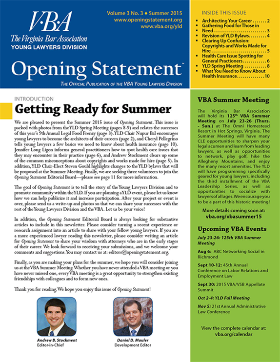 Opening Statement Vol. 3, No. 3, Summer 2015