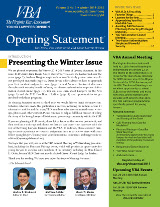 Opening Statement Vol. 3, No. 1, Winter 2014-15