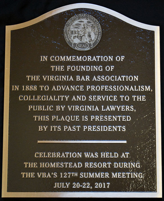 commemorative bronze plaque-closeup