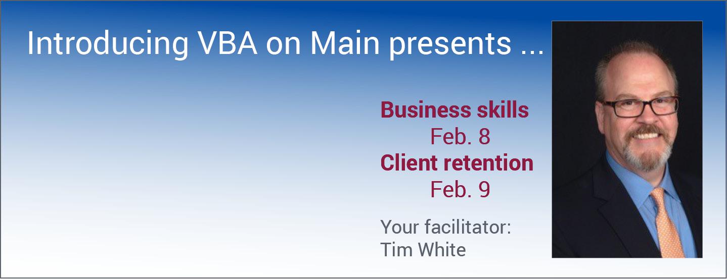 VBA on Main presents 2 Tim White programs in February