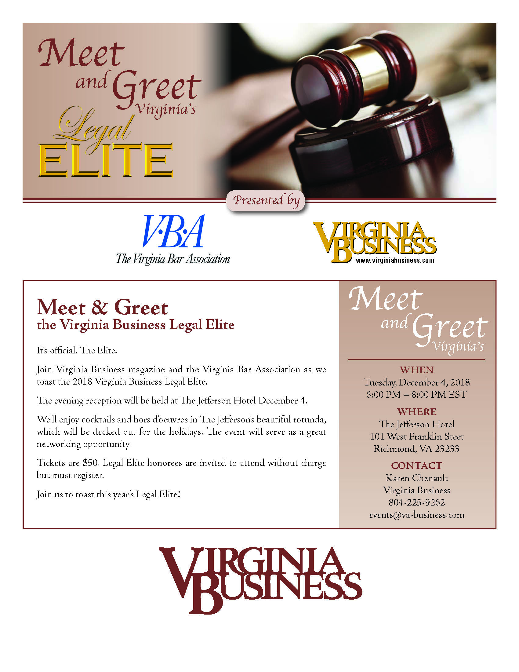 Meet & Greet the Legal Elite Dec. 4 in Richmond