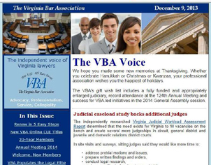 The VBA Voice monthly e-newsletter
