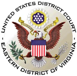 US District Court, Eastern District of Va. seal