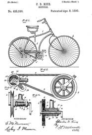 1890 patent for a belt-driven bicycle