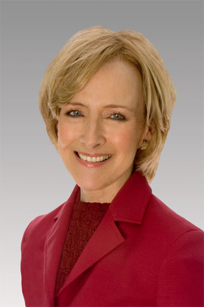 Judy Woodruff/Photo by Don Perdue