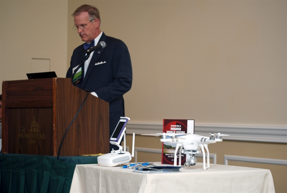 Ted Ellett at 2017 Annual Meeting CLE presentation on drones