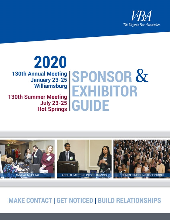Click to download the VBA Sponsor-Exhibitor-Advertiser Guide 2020