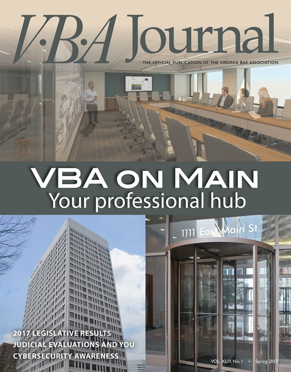 Spring 2017 VBA Journal cover
