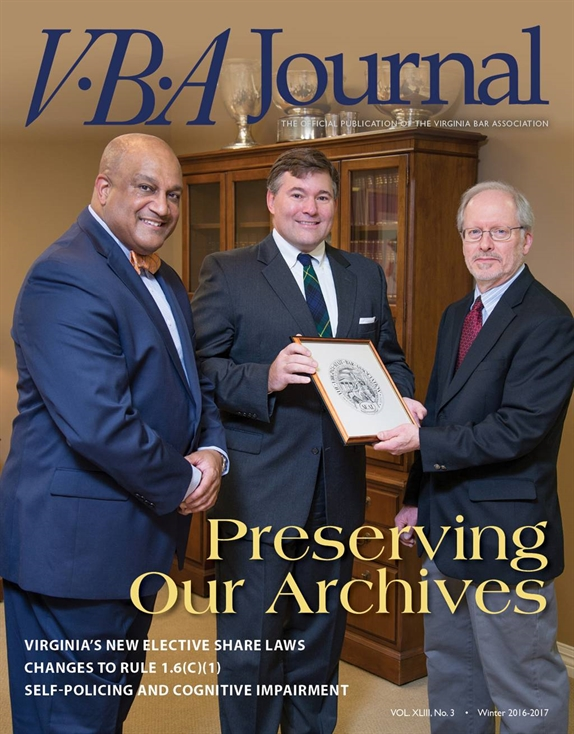VBA Journal Winter 2016-2017