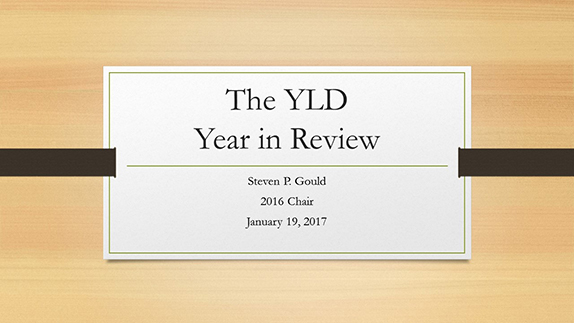 2016 YLD Year in Review slide show
