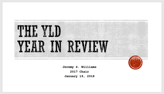 2017 YLD Year in Review slide show