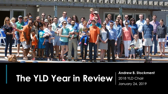 2018 YLD Year in Review slide show
