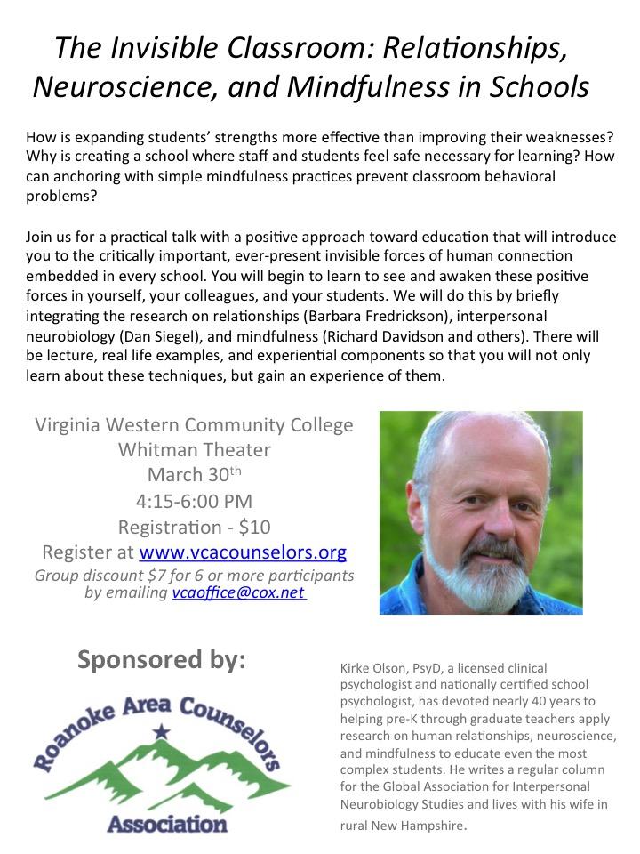 ROACA Workshop for Schools   VWCC   March 30, 2017   Virginia