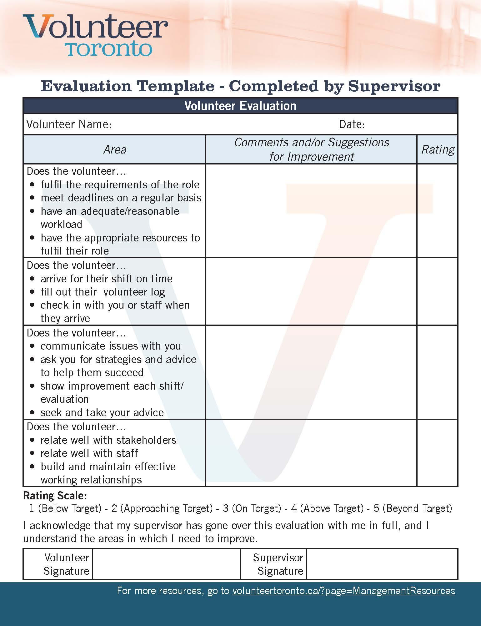 training feedback form template
